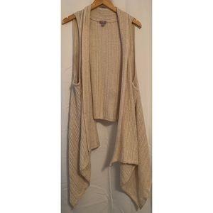 J. Jill Knit Open Vest Sleeveless Cardigan Size XL